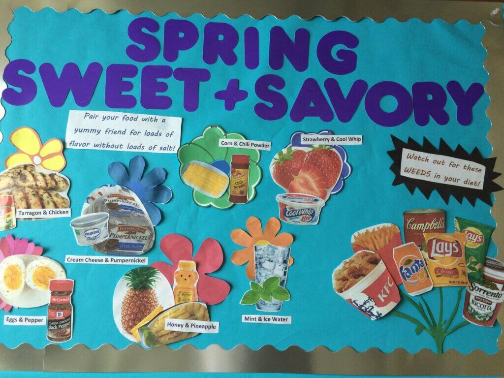 bulletin board, spring bulletin board, dialysis, renal diet