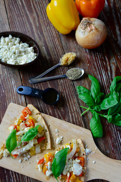 Simple ingredients for a delicious pizza!