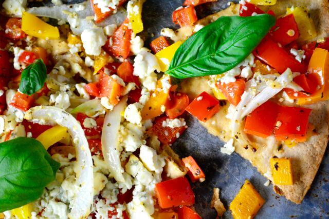 Feta, Onion, and Pepper Pizza