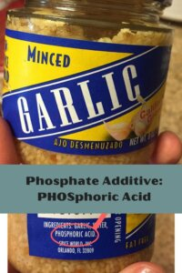 Minced garlic with phosphoric acid as phosphate additive | renal diet | high phosphorus food to limit for kidney failure